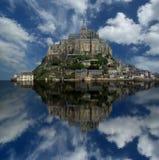 Mont Свят-Мишель, Нормандия, Франция Стоковые Фотографии RF