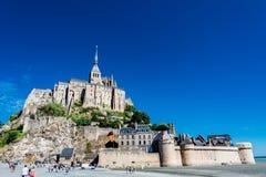 Mont-Свят-Мишель, Франция стоковое изображение