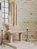 Статуя в Церков-аббатстве Святого Мишеля Mont Стоковая Фотография