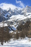 Mont Blan mountains Stock Image