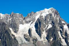 Mont Blanc冰川 免版税库存照片
