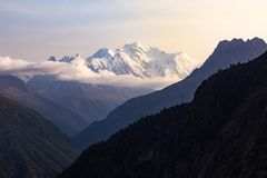 Mont Blanc from Émosson Stock Photo
