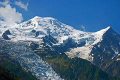 Mont Blanc, Γαλλία Στοκ φωτογραφία με δικαίωμα ελεύθερης χρήσης