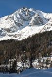 Mont Blanc που βλέπει από Val το κουνάβι Courmayeur, Aosta κοιλάδα, Ιταλία Στοκ εικόνα με δικαίωμα ελεύθερης χρήσης
