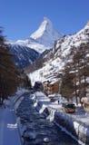 Mont Blanc του Matterhorn Στοκ φωτογραφία με δικαίωμα ελεύθερης χρήσης