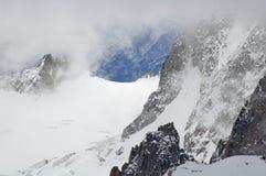 Mont Blanc в зиме Стоковые Изображения RF