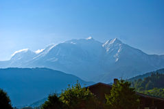 Mont Blanc, Франция Стоковое Изображение RF