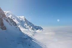 Mont Blanc, Шамони Стоковые Изображения