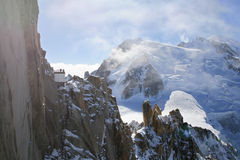 Mont Blanc, Шамони Стоковое Изображение RF