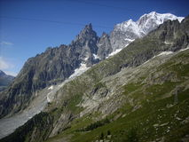 Mont Blanc 10. View of Mont Blanc from Pavillon Station Royalty Free Stock Images