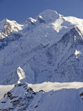 Mont Blanc. France stock photography
