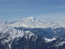 mont blanc стоковое изображение rf