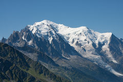 Mont Blanc. View towards the Mont Blanc Stock Images