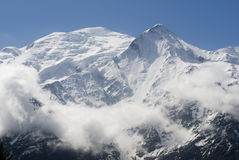 Mont Blanc. View of Mont Blanc mountain range from Aiguille Du Midi in Chamonix Stock Photography