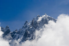Mont Blanc. View of Mont Blanc mountain range from Parc de Merlet in Chamonix Royalty Free Stock Photography
