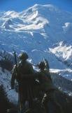Mont Blanc 4808 μ στις γαλλικές Άλπεις Στοκ εικόνα με δικαίωμα ελεύθερης χρήσης