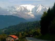 Mont Blanc Stockbild