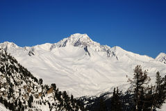 Mont Blanc. View from Les Arcs 1950 Royalty Free Stock Image