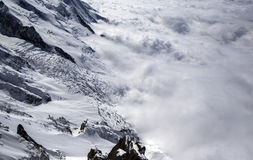 Mont blanc abover the clouds Stock Photography