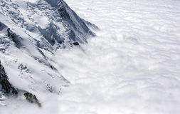Mont blanc abover the clouds Stock Photo