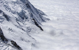 Mont blanc abover the clouds Stock Image