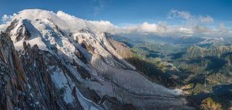 Mont Blanc, Aiguille du Midi stock photography