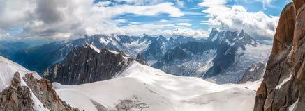 Mont Blanc, Aiguille du Midi Royalty Free Stock Image
