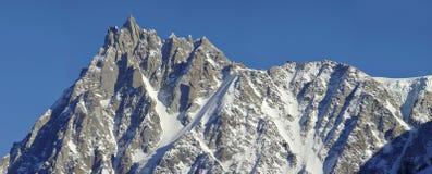 Mont Blanc - Aiguille du midi royalty free stock image