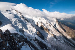 Mont Blanc, Aiguille du Midi, Glacier Stock Photos