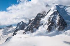 Mont Blanc, Aiguille du Midi, Mountains Stock Images