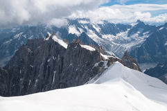 Mont Blanc, Aiguille du Midi, Mountains Royalty Free Stock Photos