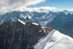 Mont Blanc, Aiguille du Midi, Summer Royalty Free Stock Images