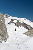 Mont Blanc - Aiguille du Miidi Royalty Free Stock Photography