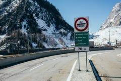 Mont Blanc alert sign Stock Photos