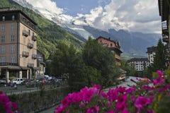 Mont Blanc, alpi Immagine Stock Libera da Diritti