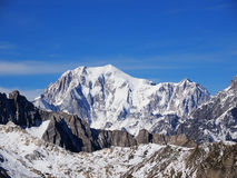 Mont Blanc in alpi francesi Immagini Stock Libere da Diritti