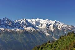 Mont Blanc, alpi, regione di Francia, Italia Fotografie Stock