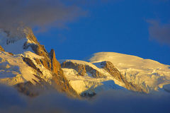 Mont Blanc - alpine view. In the sun Royalty Free Stock Photography