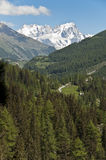 Mont Blanc - Aosta Valley, Italy. Aosta Valley: panoramic view of the famous Mont Blanc royalty free stock images