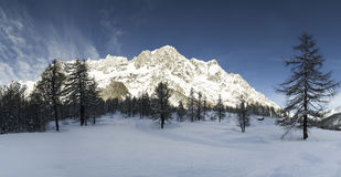 Mont Blanc, Aosta Vallley - Ιταλία Στοκ εικόνα με δικαίωμα ελεύθερης χρήσης