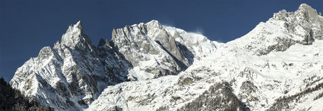 Mont Blanc, Aosta Vallley - Italy royalty free stock photos