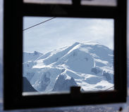 Mont Blanc. As seen from teleferic aeriation window Royalty Free Stock Image