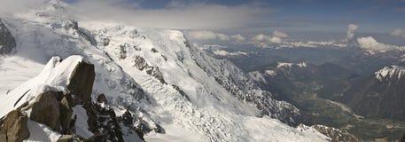 Mont Blanc-Bereich Stockfotos