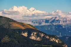 Mont Blanc-Bergspitze Lizenzfreie Stockfotos