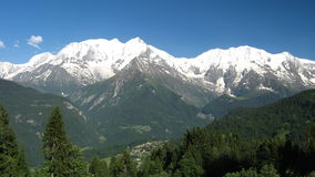 Mont Blanc from the Bettex. Mont Blanc view from the Bettex (Saint Gervais Royalty Free Stock Photo