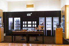 Mont Blanc Boutique Stock Foto