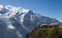 Mont blanc from Brevent Royalty Free Stock Photos