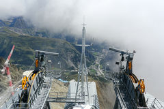Mont Blanc cable car building Royalty Free Stock Image