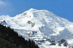 Mont Blanc from Chamonix Stock Photography