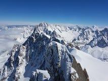 Mont Blanc Chamonix royaltyfria bilder